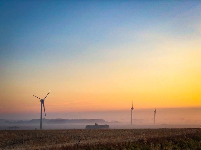 Sunrise Sunrise EyeEm Selects Sky Sunset Wind Turbine Turbine Environment Environmental Conservation Horizon Renewable Energy Nature Alternative Energy Land Wind Power
