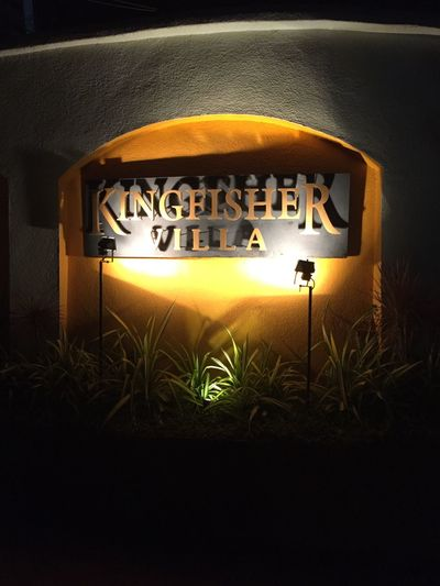 Kingfisher Beer Kingfisher Beer Text Close-up No People Villa Business Owner India Goa Candolim Indian Indian Beer Indian Culture  Indiapictures Indianphotography Dark Secure Security