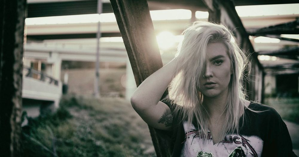 No such things as halfway crooks. Blond Hair One Person Focus On Foreground Front View Long Hair Young Adult Beautiful Woman Young Women Day Real People Portrait Architecture Outdoors Close-up People Adult