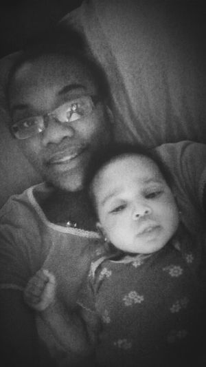 Me Looking My Worst ,Nd Baby Kae In Her Favorite Spot , Lil Kuzzo More like sister <3 iLove this chick
