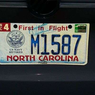 My new plate. 20yrs in the making. Usnavy Seabees Retired! Hoorahh!