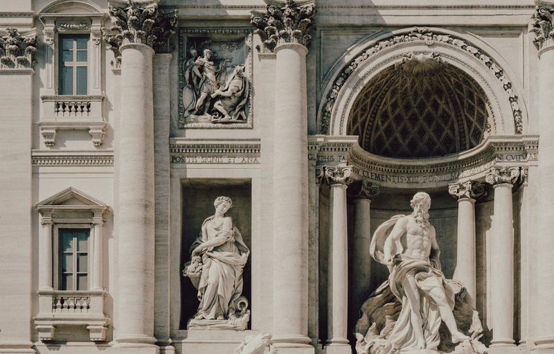 Rome Travel Architectural Column Architecture Art And Craft Building Exterior Built Structure Day Façade Female Likeness Government History Human Representation Italy Low Angle View Male Likeness No People Outdoors Sculpture Statue Travel Destinations Moving Around Rome