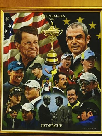 Ryder cup painting at Gleneagles Golf ⛳ Golfcourse Rydercup Eye Em Scotland