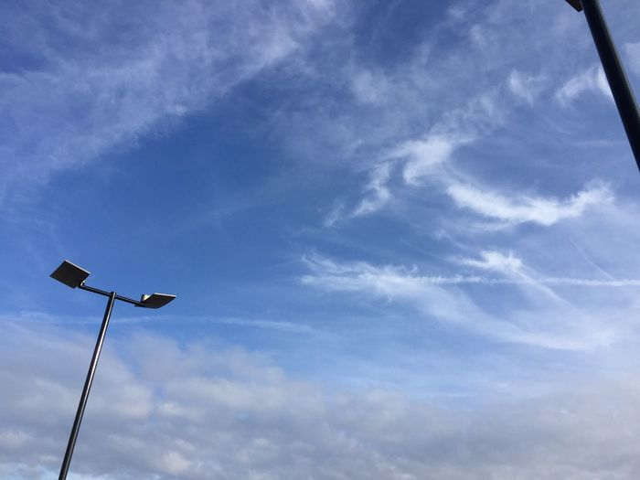 Cloud - Sky Sky Low Angle View Floodlight Day No People Outdoors Cloud Clouds Blue Bluesky Sky And Clouds Skies