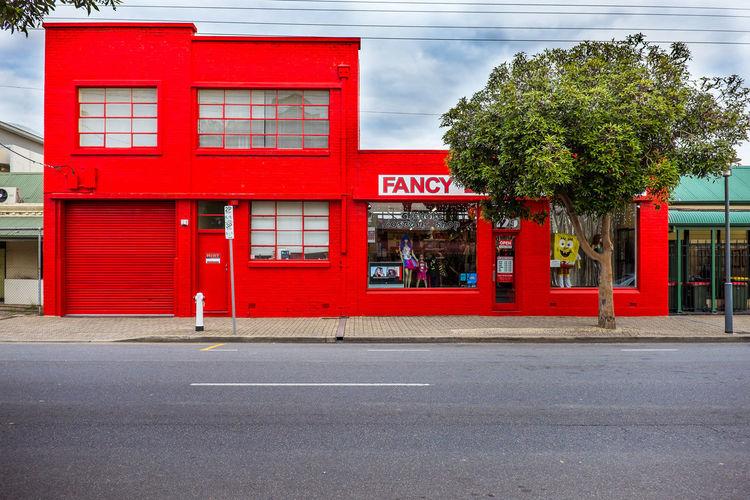 Australia Street View Adelalide Built Structure No People Red Sky Street Tree fancy dress shop