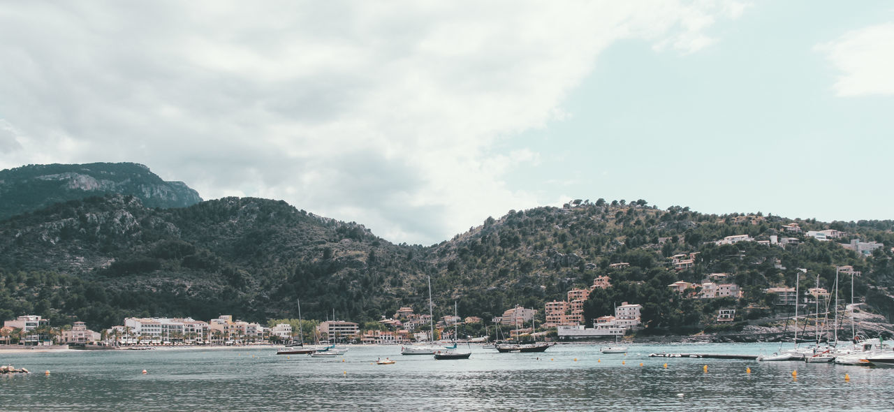 Beauty In Nature Boat Cloud Cloud - Sky Cloudy Majorca Mallorca Mode Of Transport Mountain Mountain Range Nature Nautical Vessel No People Outdoors Panorama Panoramic River Sant Elm Scenics Tranquil Scene Tranquility Tree Water Waterfront Been There.