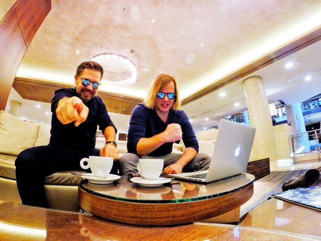 Fun Two People Togetherness Waist Up Sitting Friendship Turntable Sunglasses Record Lifestyles People Men Indoors  Real People Axelborisab AxelandBoris Axel And Boris Axel & Boris Yessspreneurs