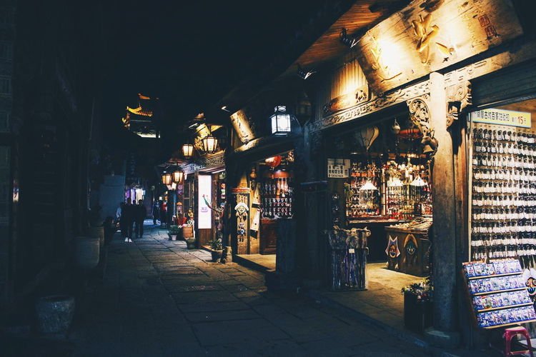 Ancient Beauty Of China Night Lights Ancient Architecture Ancient City Business China Direction Market Market Stall Night Outdoors Retail  Retail Display Street Street Market The Way Forward