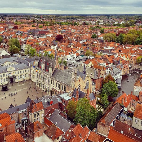 Day Scenics Close-up Sky Landscape Houses Belfort Viewfromabove Brugge Cloud - Sky