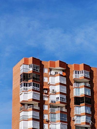 Orange high rise building