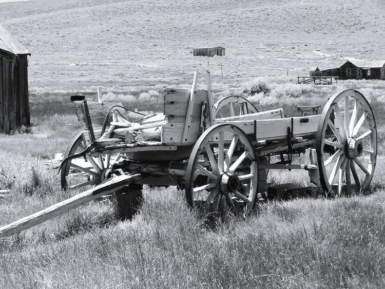 Bodie Ghost Town Bodie State Historic Park Bodie Ghost Town California Wagons Old Wagon B&w Photography