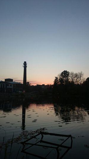 закат🌇 вечер Sunset Urban балашиха фабрика река пехорка