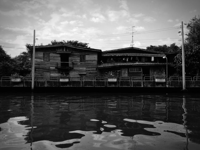 Khong River Houses Old Buildings Old Town Old House Wood - Material Wood