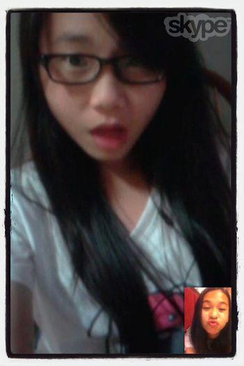 Skype wif my best frend