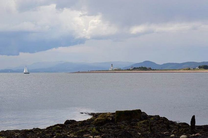 Outdoors Sea Beach Day Nature Beauty In Nature Sky Water Lighthouse Moray Firth Scotland Scottish Highlands Yacht Dark Sky Dark Clouds Landscape_Collection Landscape