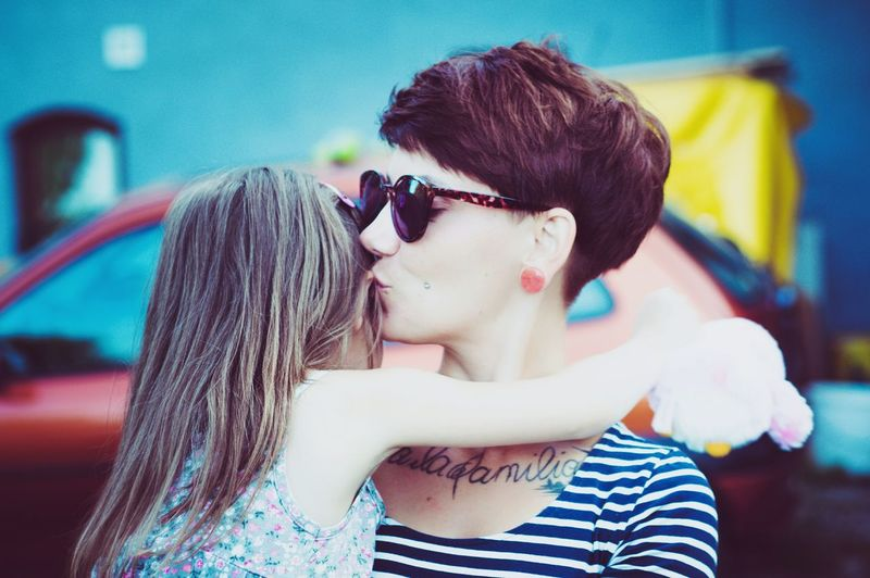 THE HAPPINESS| Togetherness Two People Kissing Love Young Women People Bonding Portrait Fun Long Hair Happiness Day Friendship Contrast Sunglasses Summer Beauty Outdoors EyeEm Gallery Freshness EyeEm Best Edits EyeEm Best Shots Fresh On Eyeem  Lifestyles EyeEm Selects Moms & Dads