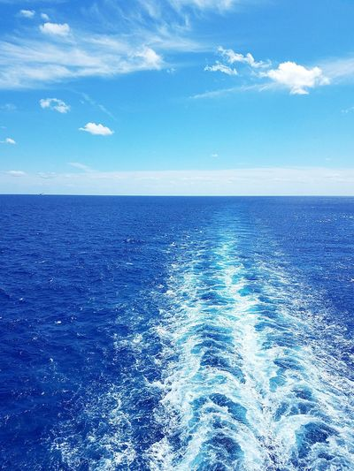 Blue Sky Sea Water Rippled Horizon Horizon Over Water No People Cloud - Sky Beauty In Nature Nature Wave Day Outdoors Reflection Ocean Criuse Bahamas Vacation Trip Scenics