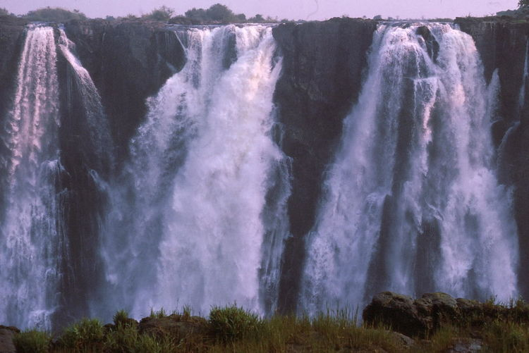 Victoria Falls Beauty In Nature Composition Early Morning Full Frame Grass Livingstone  Noisy Outdoor Photography Outdoors Rock Spray Sunlight The Edge Tourism Tourist Attraction  Victoria Falls Water Water Falls White Color Zambia