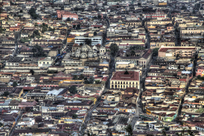 Aerial View Architecture Building Exterior City City Life Cityscape Crowded Day Downtown Full Frame Los Altos Quetzaltenango Residential Building Travel Destinations