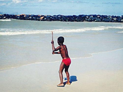 Boy swim Hello World South Africa Enjoying Life