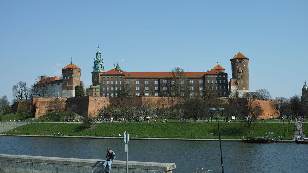 Wawel castle Day Sky Architecture Castle History Travel Destinations Outdoors Clear Sky