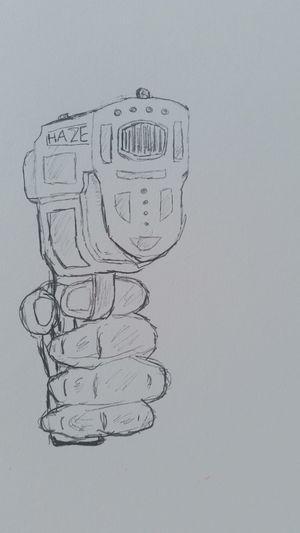 Bang Bang!!  Drawing Sketch Gun
