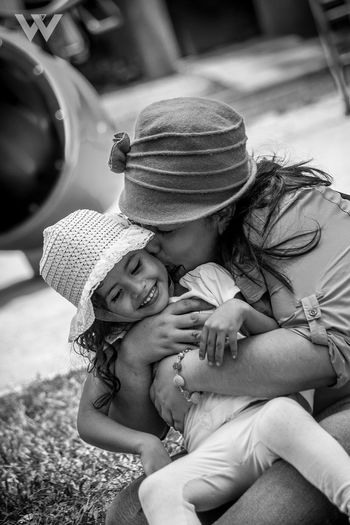 super fun afternoon with family and relatives Baby Blackandwhite Childhood City Happiness Hat Kids Love Pentax K-50 Portrait Smiling Togetherness Two People The Portraitist Black And White Friday