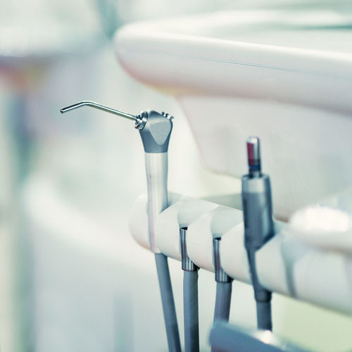 Close-up of dental equipment at clinic