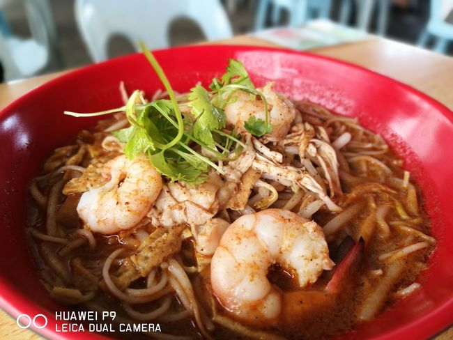 This is famous local Borneo Island dish called Laksa. Food Ready-to-eat Close-up
