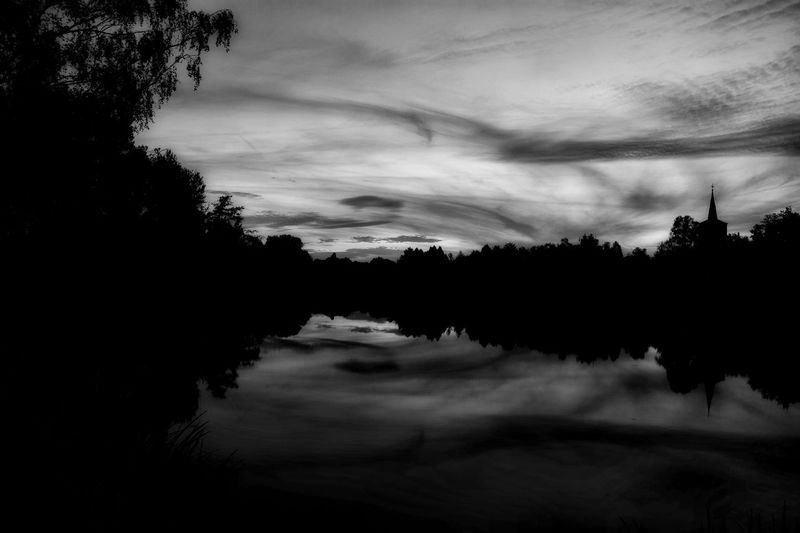 Hanging Out Taking Photos Blackandwhite Black And White Black & White Water Reflections Church Eye4photography  Light And Dark EyeEm Nature Lover Nikonphotography Nikon D5200 Sky And Clouds Nature Photography Borner See