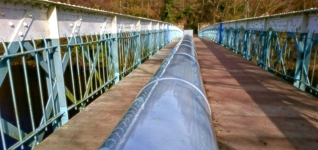 Bridge Man Made Structure Pipeline Wrought Iron Design Walkway River Bridge River Tees Barnard Castle