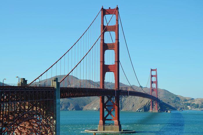 Traveling Sky Bridge Golden Gate Bridge USA Bridges San Francisco California United States Sanfrancisco GoldenGateBridge Man-made Structure California Dreamin