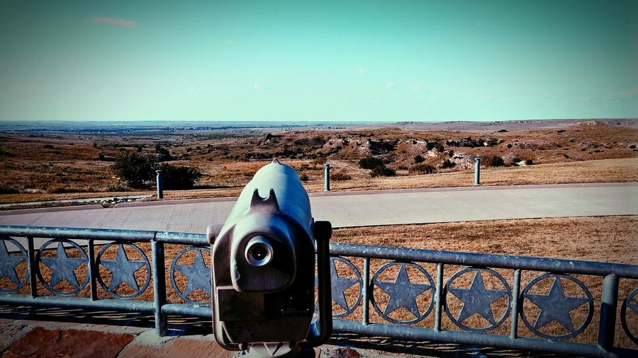 Coin-operated Binoculars Day Outdoors Sky No People Desert Nature Clear Sky Water Close-up Breathing Space