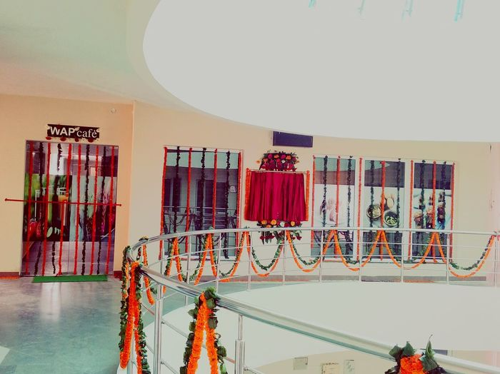 Inaugural function Leaf Ssclix SSClicks SSClickPics SSClickpix Mobilephotography Building New Cafeteria Inaguration EyeEm Selects City Business Finance And Industry Red Architecture Model - Object