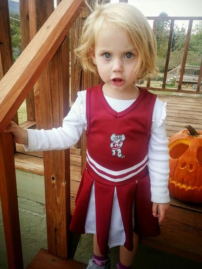 Portrait Looking At Camera Pumpkin Girl Childhood One Person Halloween October Making A Face Human Body Part Outdoors Day Chattanooga Tennessee Youth Of Today Football Football Season Cheerleader Fan SEC Football Alabama Alabama Crimson Tide Roll Tide  Roll Tide Roll  Fall Autumn