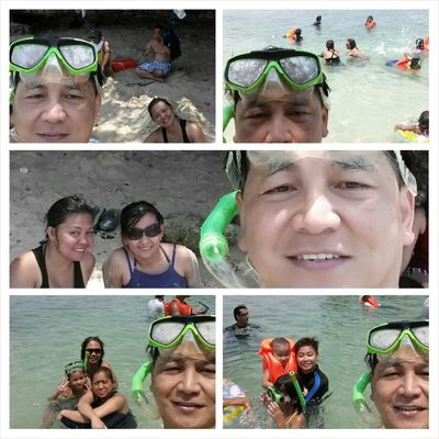 swimming time with my family during my vacation in the Philippines Hundred Islands At Alaminos Pangasinan, Philippines