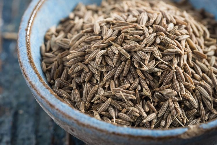 Caraway seeds Bowl Pottery Blue Ingredient Seasoning Spice Seeds Caraway Close-up No People Food And Drink Food