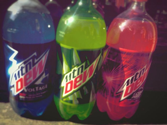 This is how we Mountain Dew it! Voltage Blue Love ♥ Sunshine ☀ Greatlight CODERED Moutaindew Beauty Soda Inlove Likeforlike