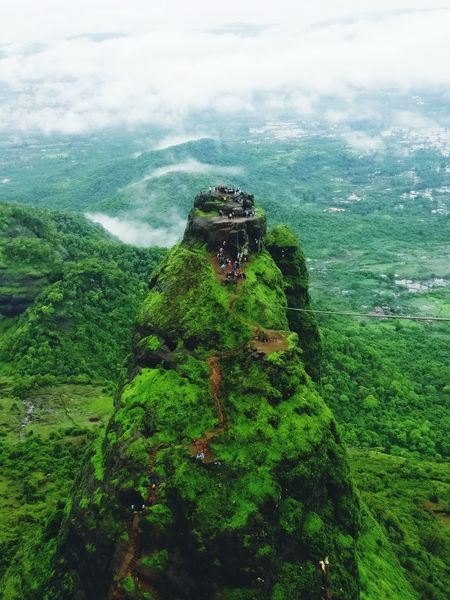 Kalavantin Durg Prabalgad Panvel Green Color Agriculture Field Nature Growth Day Outdoors Landscape Beauty In Nature No People Tree Grass Sky