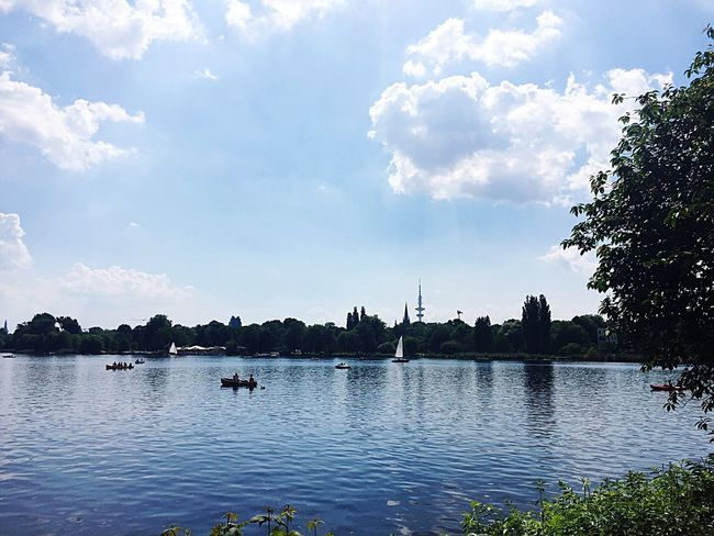 Another beautiful day at Außenalster Hamburg Water Landscape