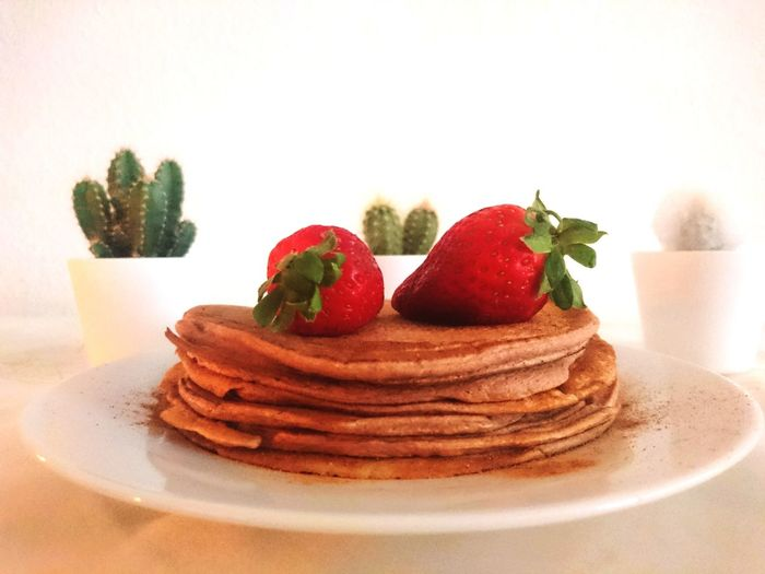 panquecas Panqueca Strawberries Pancakes First Eyeem Photo