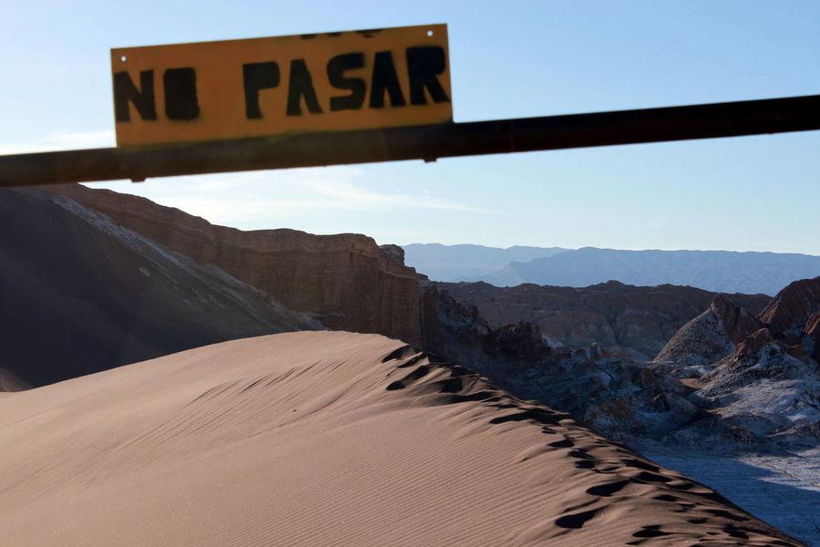 Desert D'Atacama Desierto De Atacama No Pasar Valle De La Luna Vallée De La Lune
