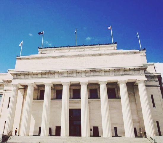 Architecture Built Structure Architectural Column Building Exterior Low Angle View Flag Museum