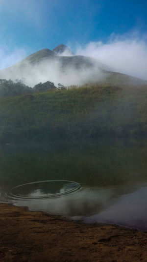 Dam Hillside How Do We Build The World? How Do You See Climate Change? Nature Photography Reservoir Wodden Footbridge