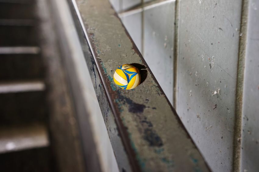 Ball Rail No People Close-up Metal Day Focus On Foreground Outdoors Wall - Building Feature Selective Focus