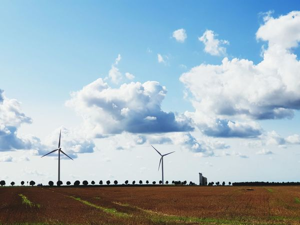 Windmill Wind Turbine Wind Power Technology Rural Scene Alternative Energy Fuel And Power Generation Sustainable Resources Agriculture Electricity  Power Supply