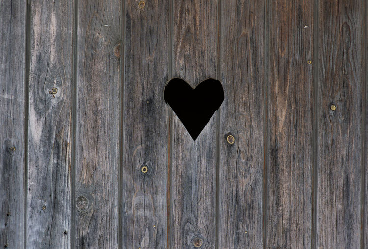 Backgrounds Black Heart Building Exterior Close-up Day Door Doors Full Frame Full Length Gray Background Heart Shape Horizontal Love No People Old Planks Outdoors Pattern, Texture, Shape And Form Textured  Textured  Textures And Surfaces Toilet Toilet Art Valentine's Day  Wood - Material Wood Wall