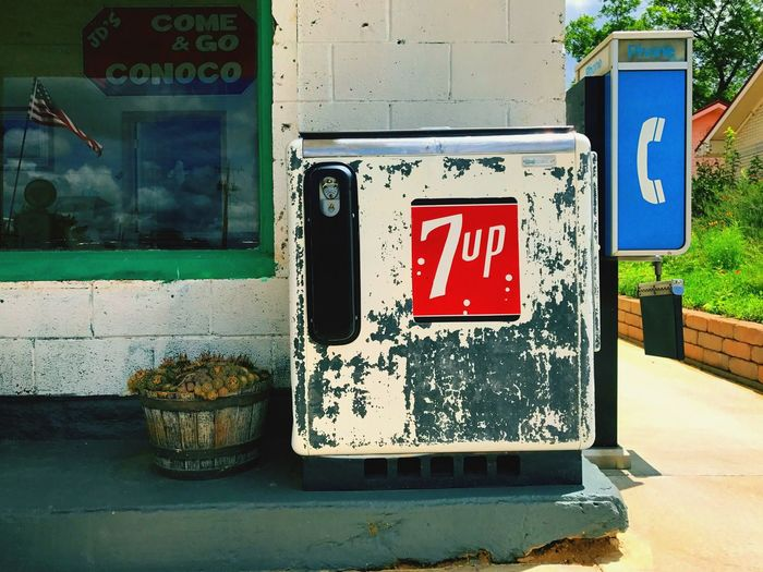 Texas Nocona Nostalgia Gas Station Soda Cooler Outdoors Close-up Reflection Forever Rusted in Time Simple Past Preserved Vintage Cloud - Sky Documentary Photography No People Creating Artbyart Photography
