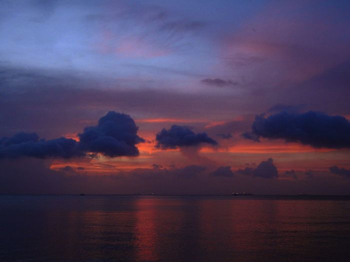 Sunset Water Sky Scenics - Nature Beauty In Nature Sea Cloud - Sky Sunset Tranquility Tranquil Scene Horizon Over Water Horizon Idyllic No People Orange Color Nature Waterfront Dramatic Sky Nautical Vessel Outdoors