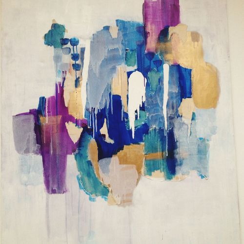 ArtWork Art Painting Abstract Colors Twombly